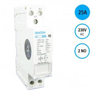 GACIA HC-2520 Inst.relais 25A/2NO/230VAC