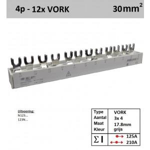Schotman Elektro - SEP aansluitkam 30F04012G06 verdeelkam 3x 4 Vork