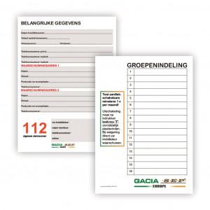 GVK groepenverklarings vel (set 10 stk)