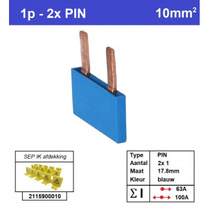 SEP P01002B00 Kam 1f PIN 2p 17,8mm blauw