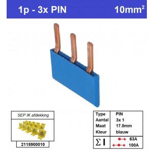 SEP P01003B00 Kam 1f PIN 3p 17,8mm blauw