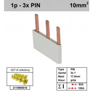 SEP P01003G00 Kam 1f PIN 3p 17,8mm