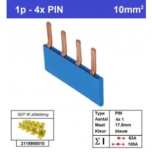SEP P01004B00 Kam 1f PIN 4p 17,8mm blauw