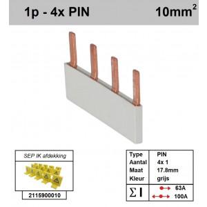 SEP P01004G00 Kam 1f PIN 4p 17,8mm