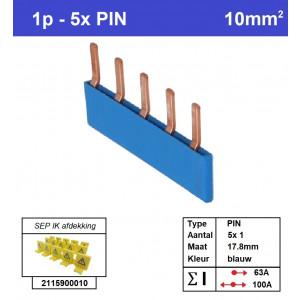 SEP P01005B00 Kam 1f PIN 5p 17,8mm blauw