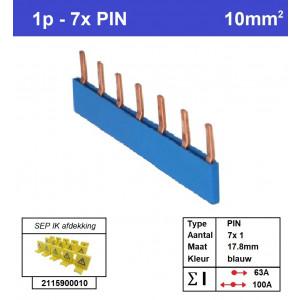 Schotman Elektro - SEP aansluitrail PIN 7x1 aansluitingen 17.8mm