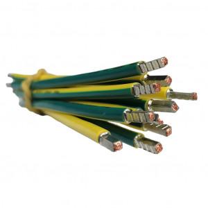 SEP bedrading 10mm2, l=185mm, geel/groen, 105gr
